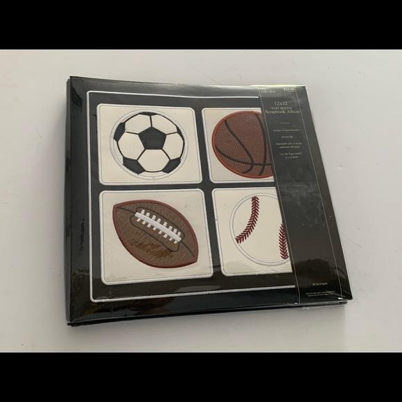 Sports Scrapbook Album-New